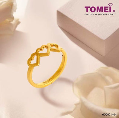 Tri-Love Ring | Tomei Yellow Gold 999 (24K) (BTR-5D-010)