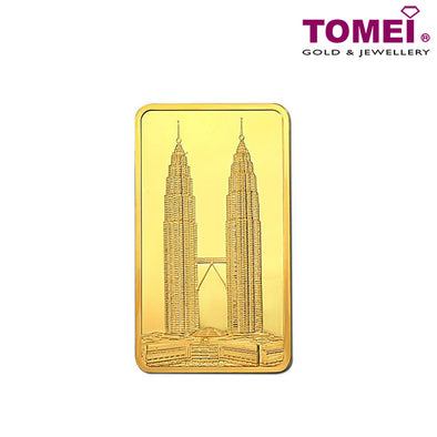 [Tomei Exclusive]KLCC Twin Towers Wafer | Fine Gold 9999 with Complimentary Pouch (TWg)