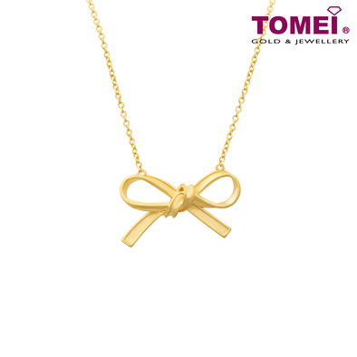 Tomei Yellow Gold 916 (22K) Ribbon Bliss Pendant (WS-YG1361N-1C)
