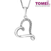 Love Diamond Necklace | Tomei 585 (14K) White Gold (P4014)