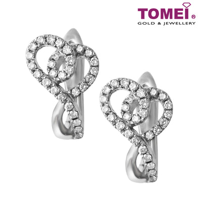 Love Diamond Earrings | Tomei 375 (9K) White Gold (E1021)