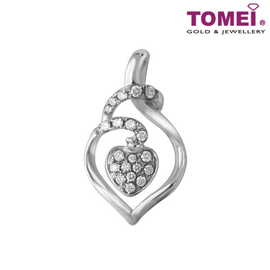 Sparkling Fruition of Love Diamond Pendant | Tomei 750 (18K) White Gold (P2713V)