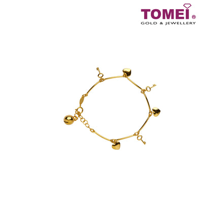 Bracelet of Unlocking the Heart for Love | Tomei Yellow Gold 916 (22K) (X5FOR6B4204-VI-1C)