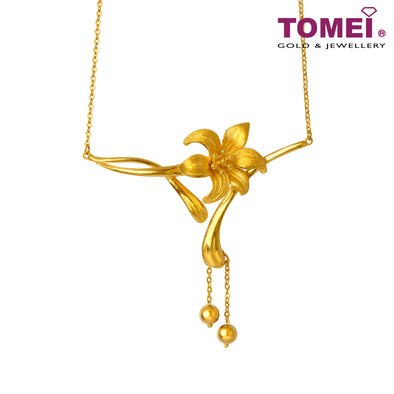 一花独秀 Necklace | Tomei Yellow Gold 999 (24K)