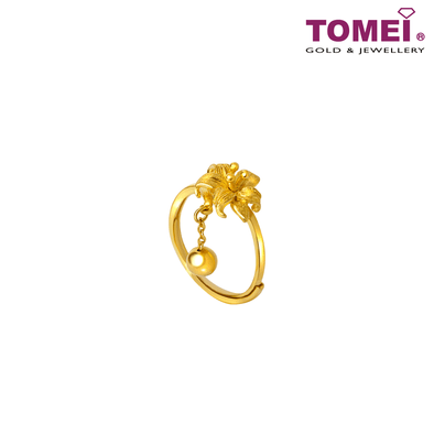 一花独秀Ring | Tomei Yellow Gold 999 (24K)