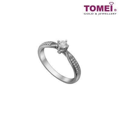 [Limited Stock]Ring of Diamantes with Splendorous Sparkle | Sparking Star | Tomei White Gold 750 (18K) (WIS-R4614)