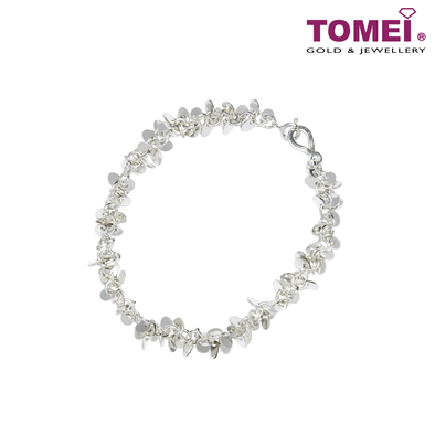 [Online Exclusive] Frosty Faith Dazzling Twinkles Adjustable Bracelet Tomei Sterling Silver 925 (Z59B)