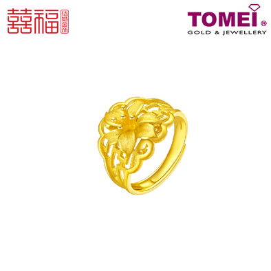 Tomei x Xifu Yellow Gold 999 (24K) Harmonious Union of Hundred Years Ring 百年好合戒指 (XF-BNHH-O)