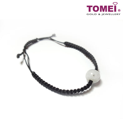 [Online Exclusive][Last Piece] Palace Grace Jade Pendant with Expandable Black Rope Bracelet | Tomei Jade (JP0008730)