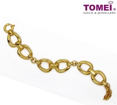 Connectivity of Elegance in Chain Bracelet | Tomei Yellow Gold 916 (22K) (AS-B0027-1C)