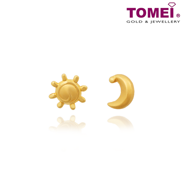 Sun & Moon Earrings | Tomei Yellow Gold 916 (22K) (EE2841-1C)