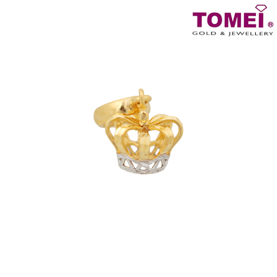 Tomei Yellow Gold 916 (22K) Crown Pendant (TM-YG0280P-2C)