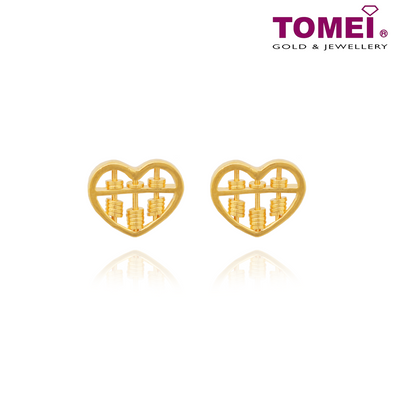 Love of Abacus Earrings | Tomei Yellow Gold 916 (22K) (9Q-SP-XX-1C)