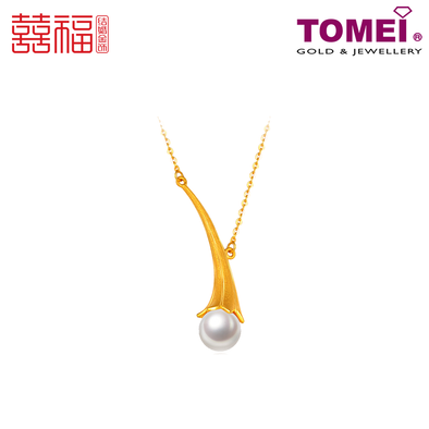Tomei x Xifu Yellow Gold 999 (24K) Dewdrop Necklace 露珠项链 (XF-LZ-N)