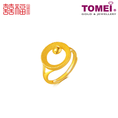 Tomei x Xifu Yellow Gold 999 (24K) The Circles of Bliss Ring 幸福圈戒指 (XF-XFQ-O)
