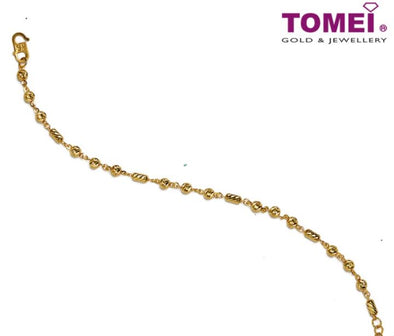 Bracelet of Geometrical Glitz in Linear Motion | Tomei Yellow Gold 916 (22K) (BB1141-1C)