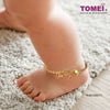 Ribbon of Love Baby Anklet | Tomei Yellow Gold 916 (22K) (TZ-B2613-EC)