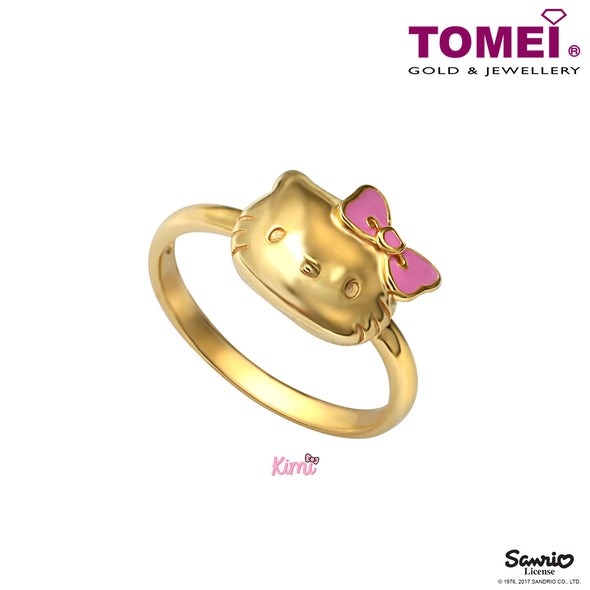 "Tomei x Hello Kitty Yellow Gold 916 (22K) ""Kimi Collection"" Ring (HK-YG0271R-EC)"