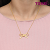 Ribbon Bliss Necklace | Tomei Yellow Gold 916 (22K) (WS-YG1361N-1C)