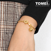 [Online Exclusive] Dangling Ball Chomel Charm | Light of My Life | Tomei Yellow Gold 916 (22K) with Complimentary Peach Pink Bracelet (TM-YG0690P-1C)