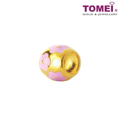 Charm of Peony in Pastel Pink | Tomei Yellow Gold 916 (22K) (TM-YG0475P-EC) Peach Pink