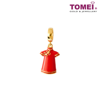 [Online Exclusive]Lovely Qipao charm | 1 Malaysia | Tomei Yellow Gold 916 (22K) (TM-YG0770P-EC)