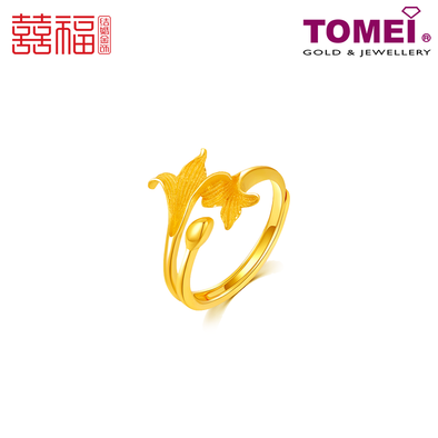 Tomei x Xifu Yellow Gold 999 (24K) 十全十美戒指 (XF-SQSM-O)