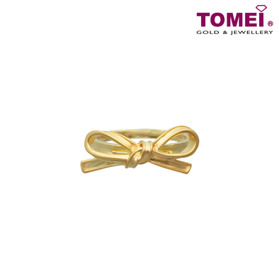 Tomei Yellow Gold 916 (22K) Ribbon Bliss Ring (WS-YG0326R-1C)