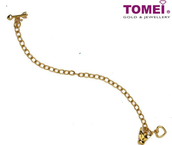 Route of Endless Love Vibes Bracelet | Tomei Yellow Gold 916 (22K) (9M-YG1188-B-1C)