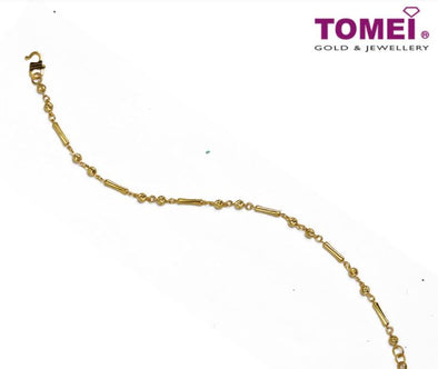 Sphericals and Elongated Rectangles Bracelet | Tomei Yellow Gold 916 (22K) (BB1104-E-1C)