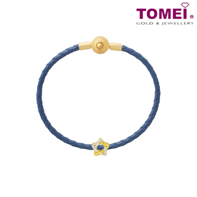 [Online Exclusive] Dual-Tone Star Chomel Charm | Ocean of Wondrous | Tomei Yellow Gold 916 (22K) with Complimentary Navy Blue Bracelet (TM-PT035-2C)