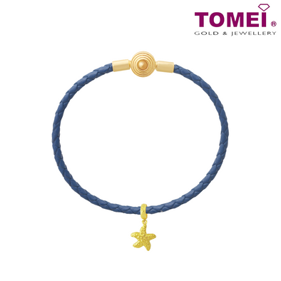 [Online Exclusive] Starfish Chomel Charm | Ocean of Wondrous Collection | Tomei Yellow Gold 916 (22K) with Complimentary Bracelet (TM-PT043-1C)