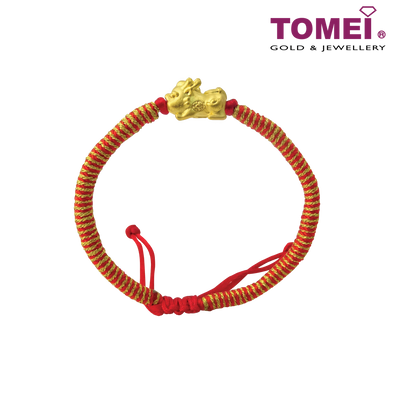 Tomei Yellow Gold 999 (24K) Atomic Pixiu Bracelet (KP-PX-RS)
