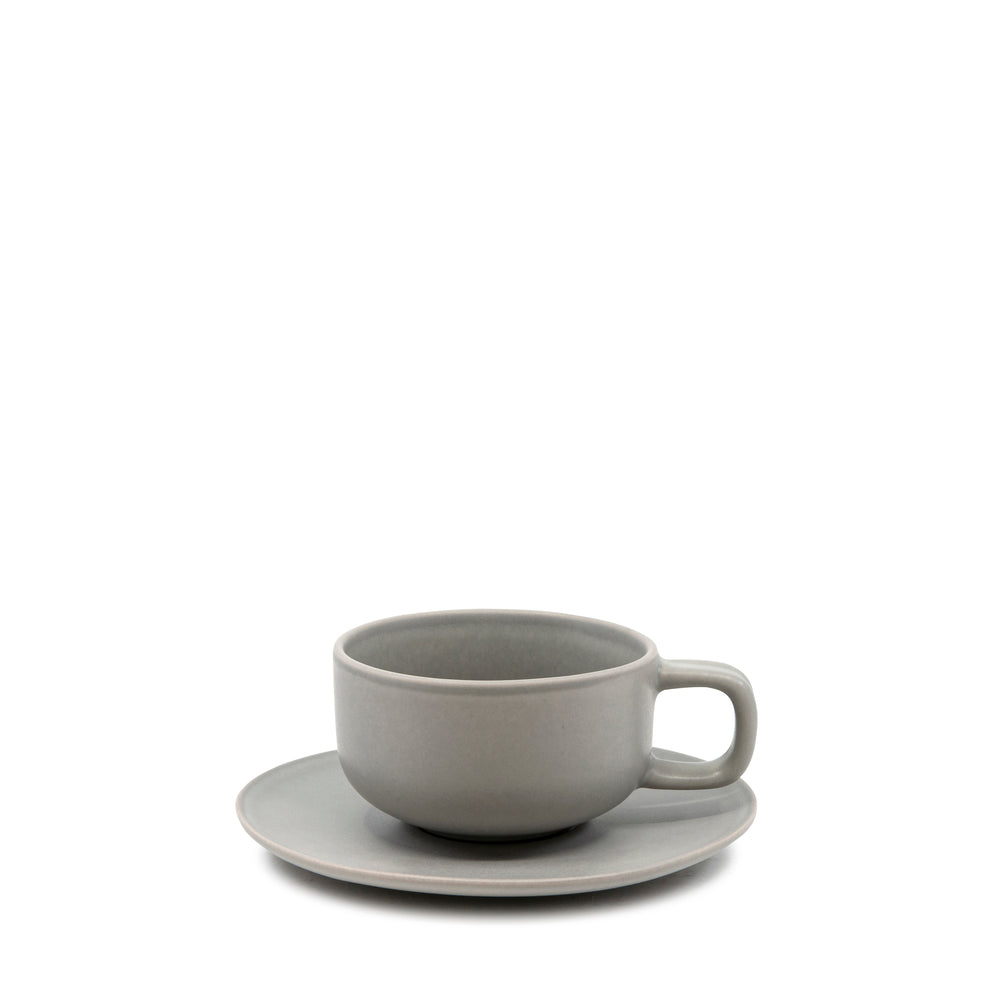 S&P Hue teacup and saucer in grey