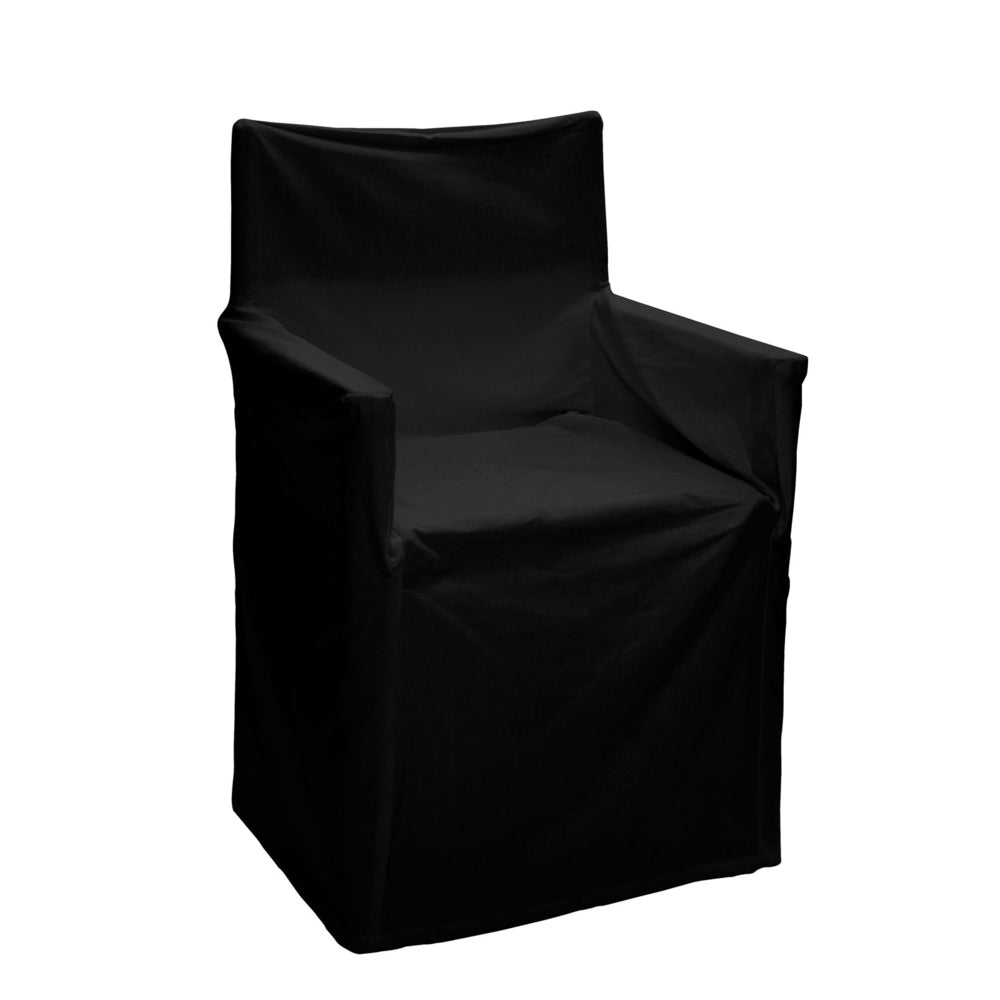 Director chair cover in black