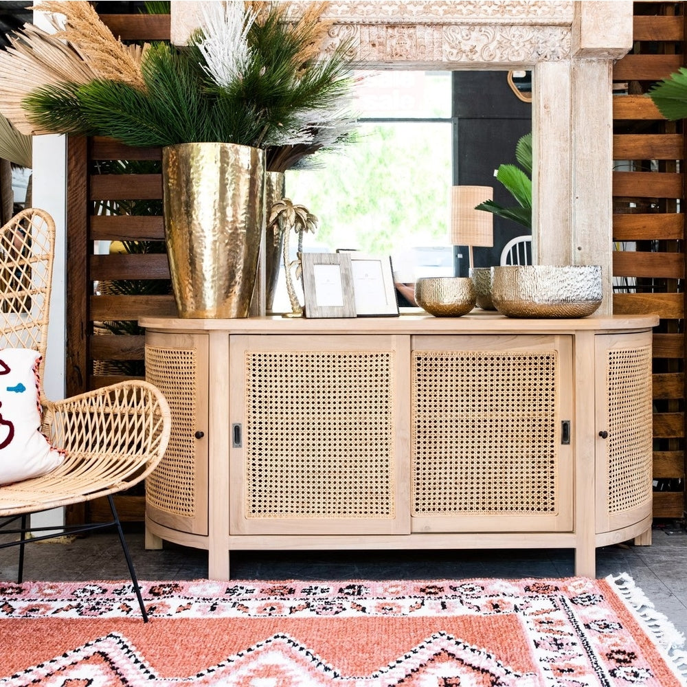 Tropic rattan oval buffet