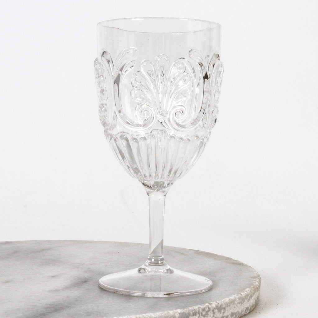 Flemington acrylic wine glass in clear