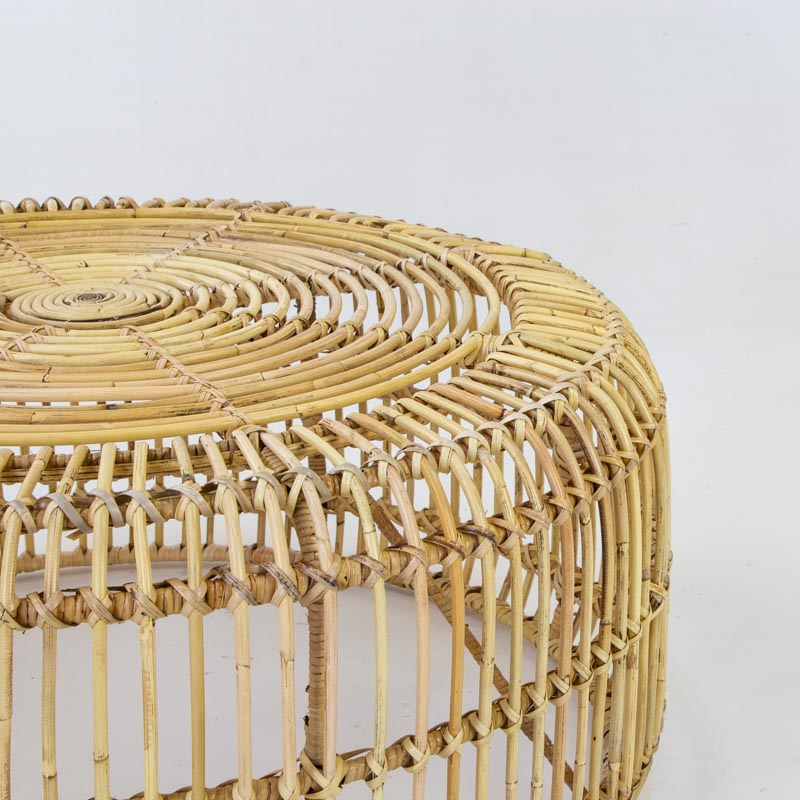 Avery coffee table in blonde rattan