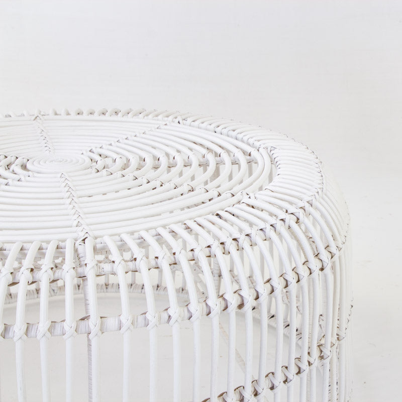 Avery coffee table in white rattan