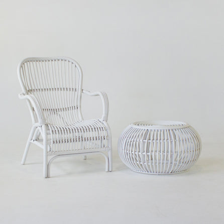 Bandung chair in white rattan