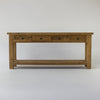Beach console table with 4 drawers and shelf in bleached