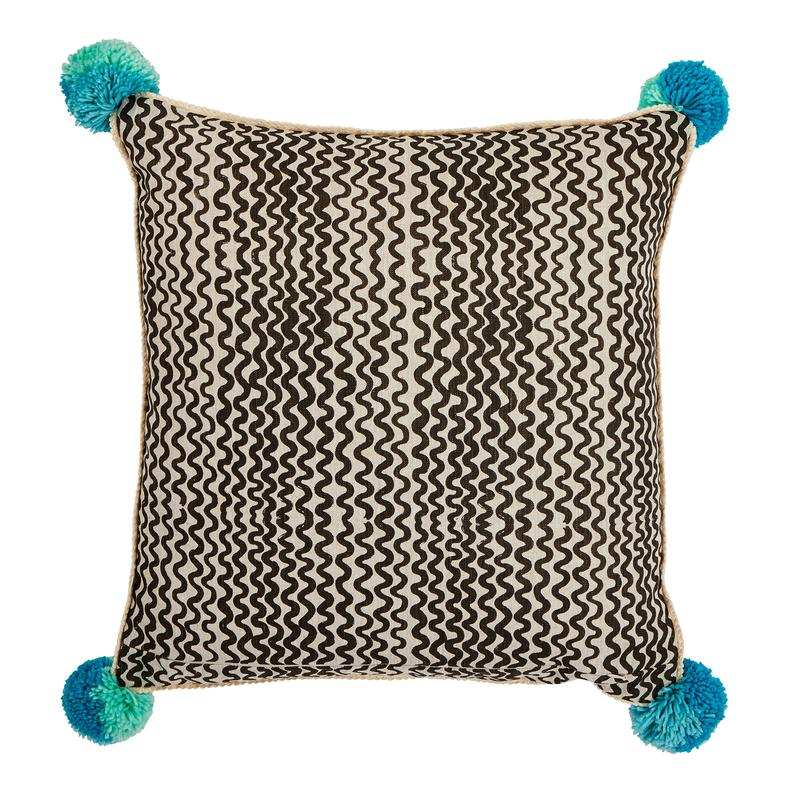 Bonnie and Neil Aster cushion in pale blue 50cm