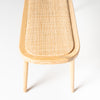 Castaway Rattan oval bench in natural