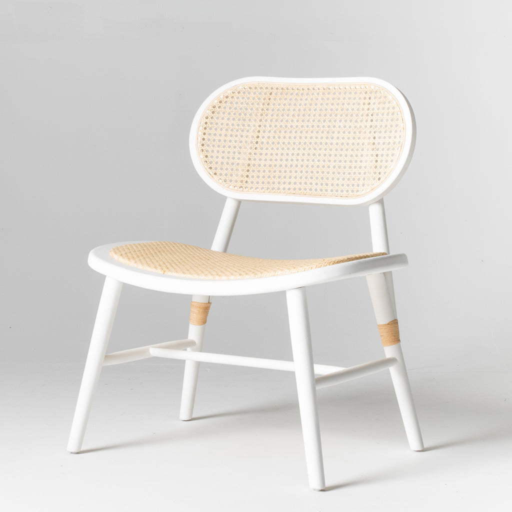 Castaway occasional chair in white