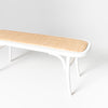 Castaway Rattan oval bench in white