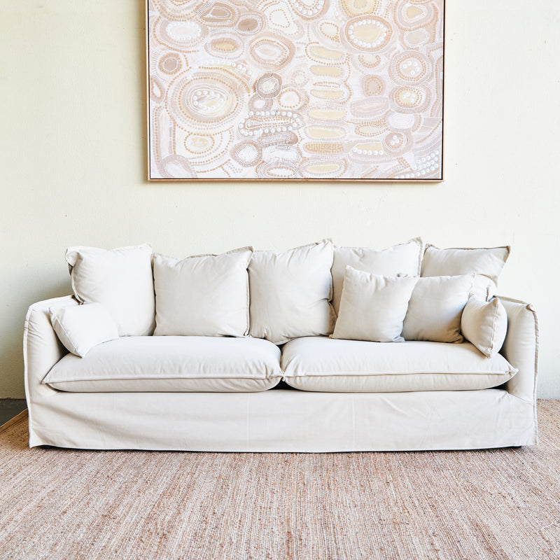 Byron 3 seater sofa in Vanilla
