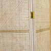Rattan room divider in natural