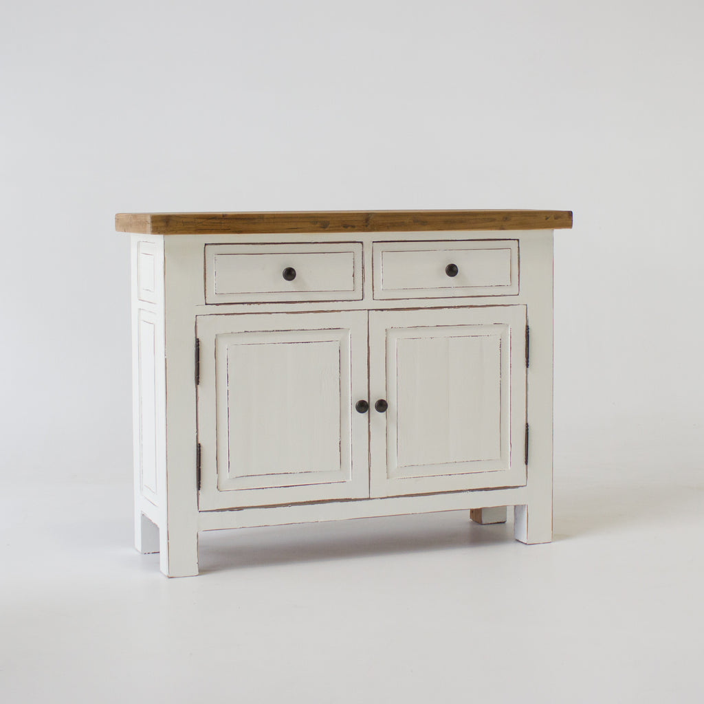 Beach buffet with 2 doors and 2 drawers in white