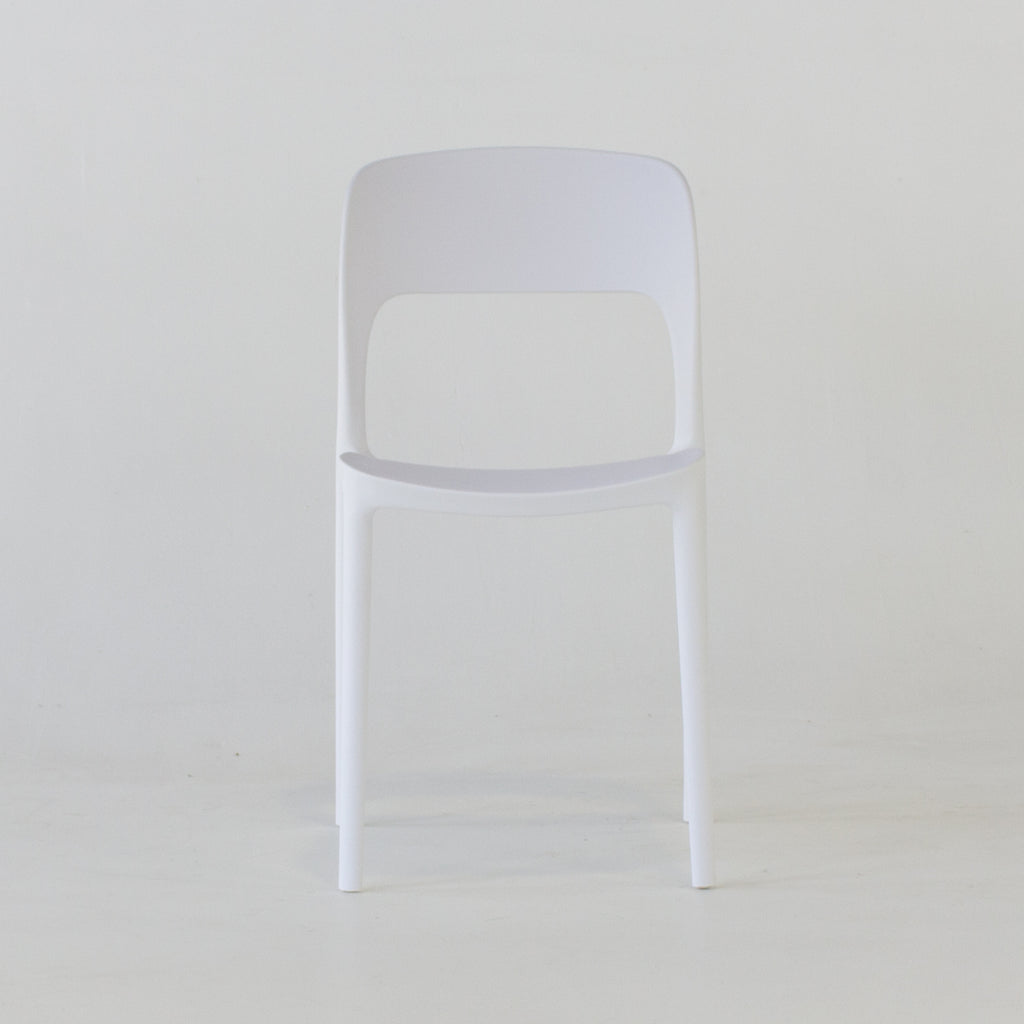 Roma dining chair in white