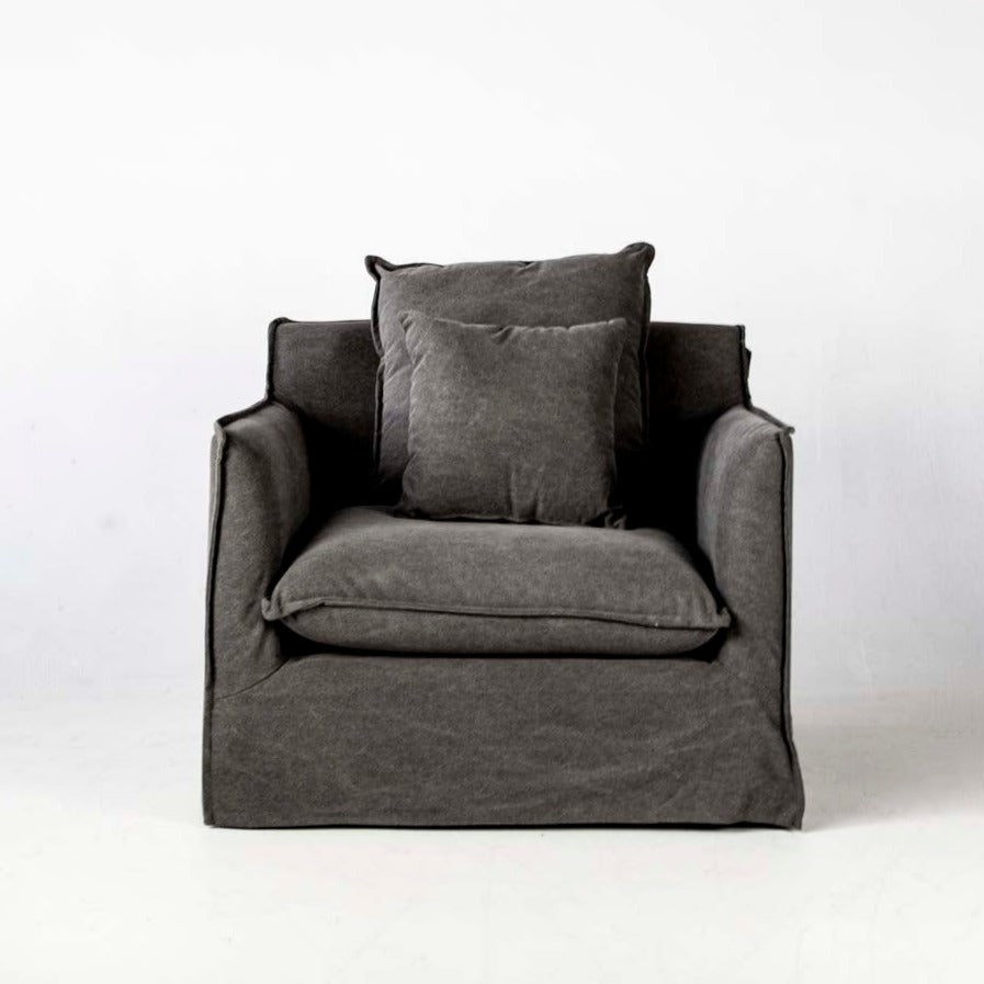 Byron arm chair in grey